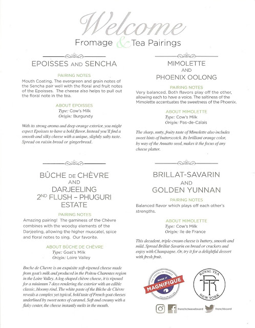 Tea & Fromage with The French Cheese Board and Royal Tea NY
