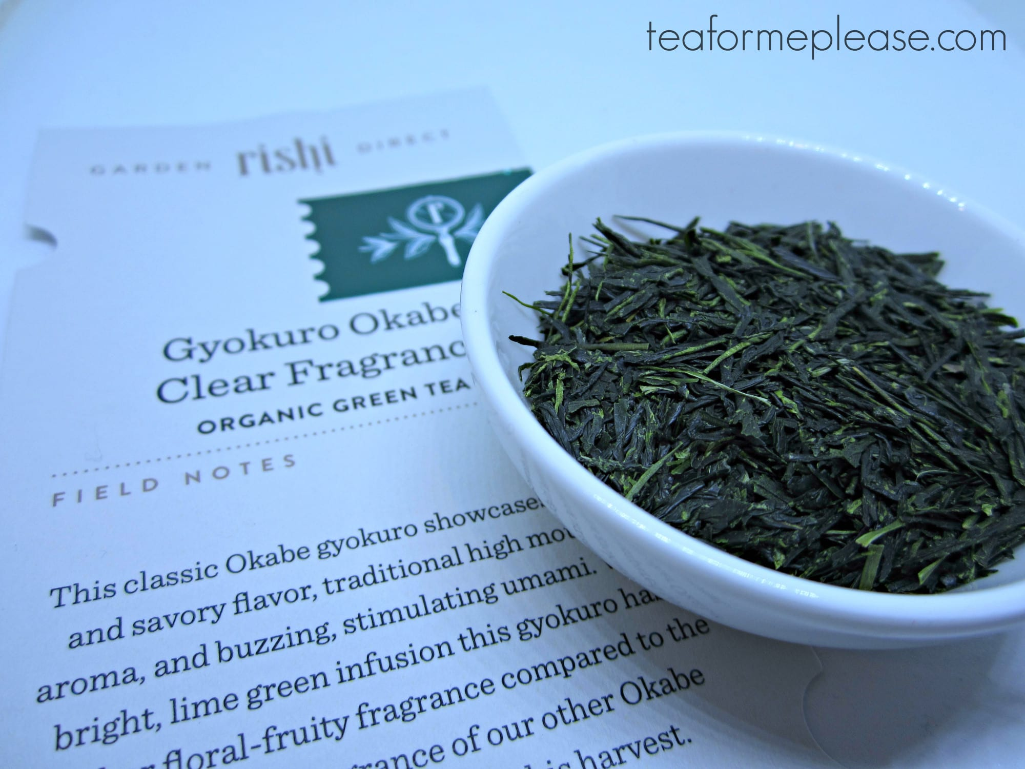 Rishi Tea Gyokuro Okabe Clear Fragrance