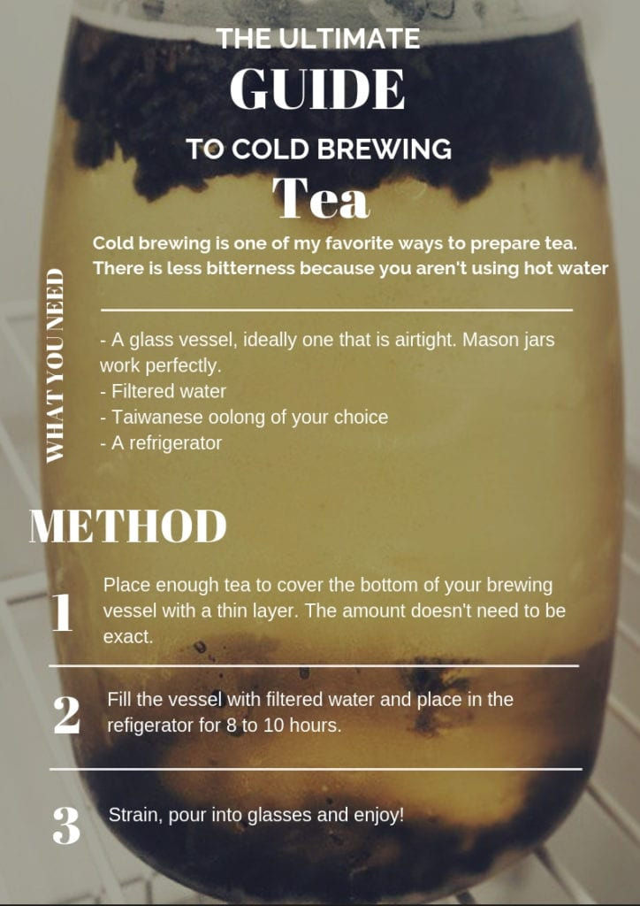 How to cold brew iced tea