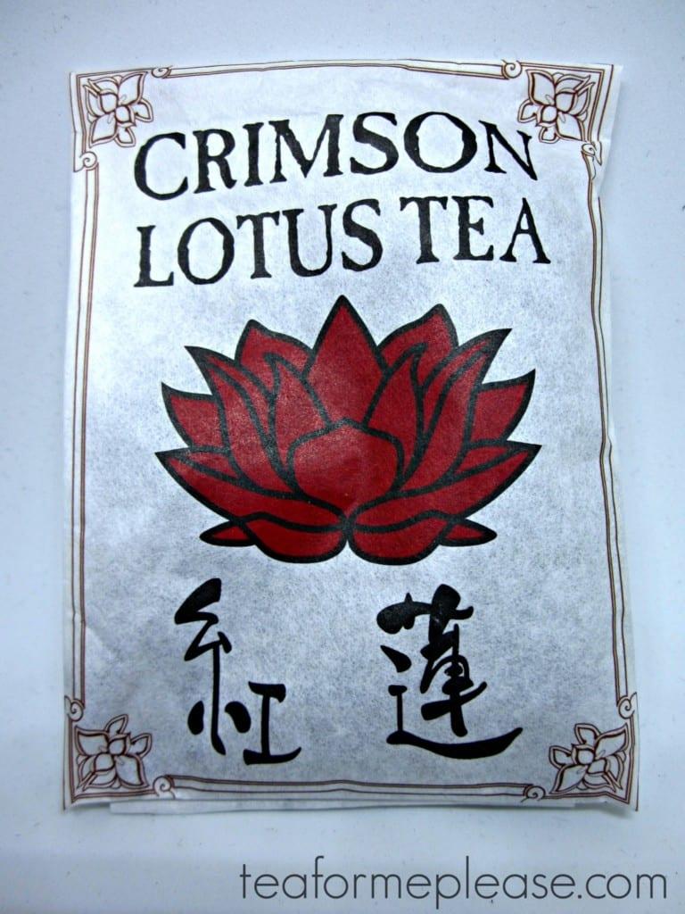 Crimson Lotus Tea sample package