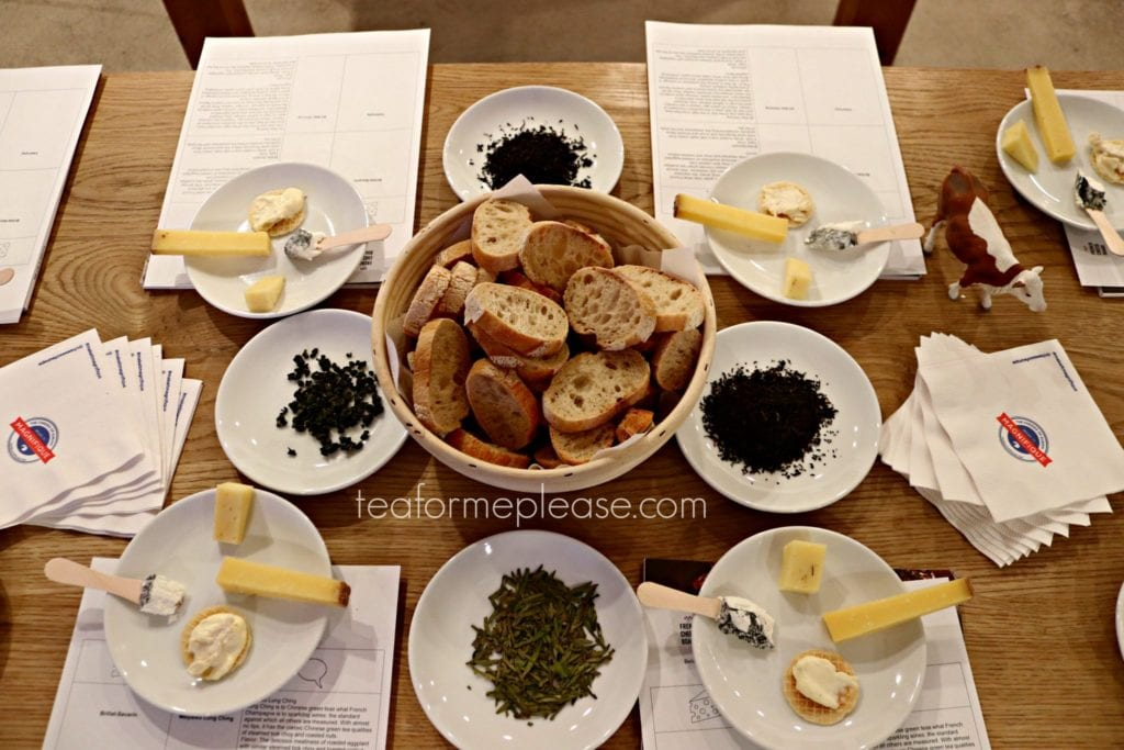cheese pairing table setting