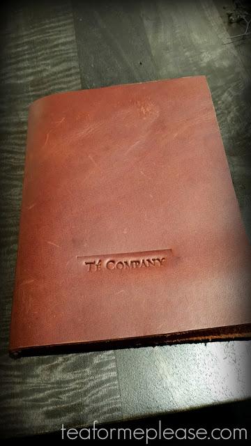 Té Company leather tea menu