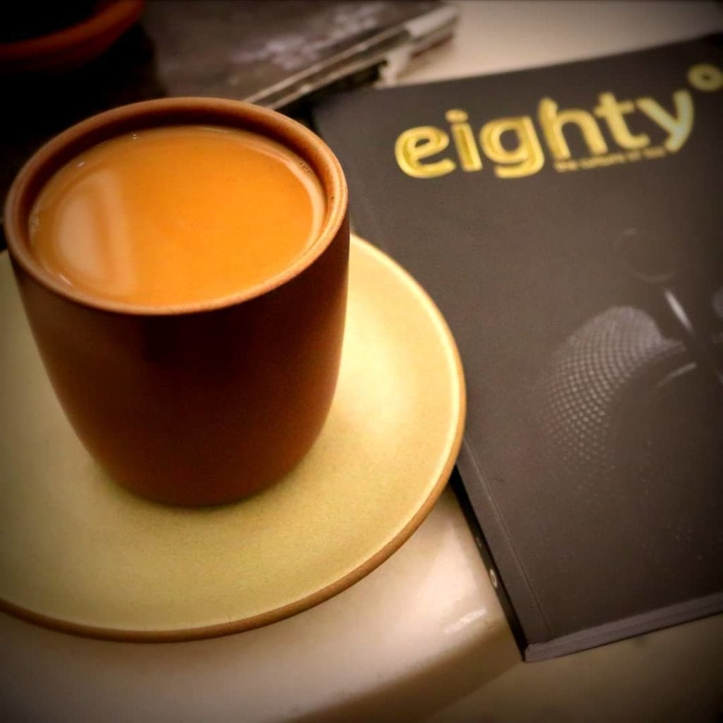 tea magazine with a cup of chai