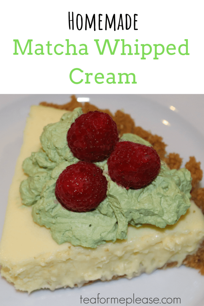 Homemade Matcha Whipped Cream