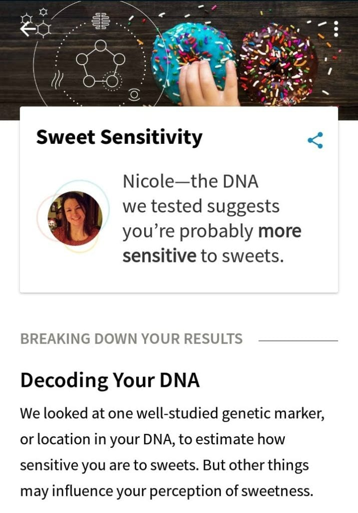 Sweet DNA results
