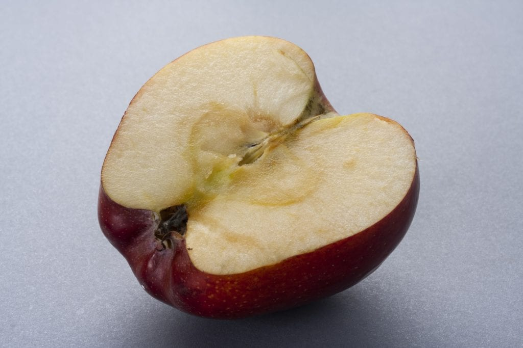 Tea leaves turn brown when exposed to oxygen, just like apple slices