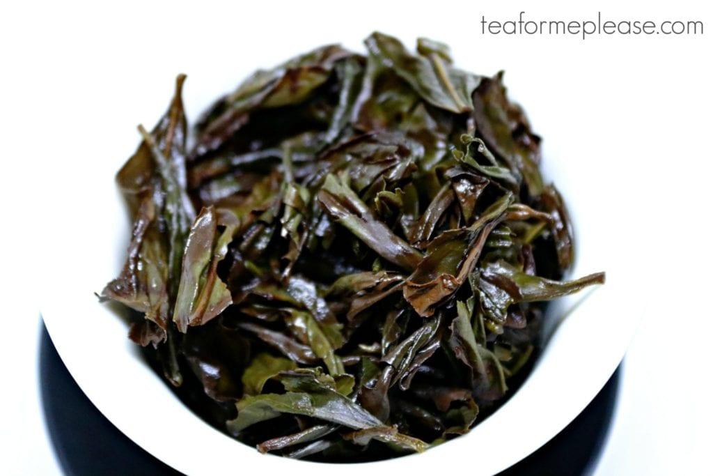 Enchanting Fragrance oolong leaves, wet in a gaiwan