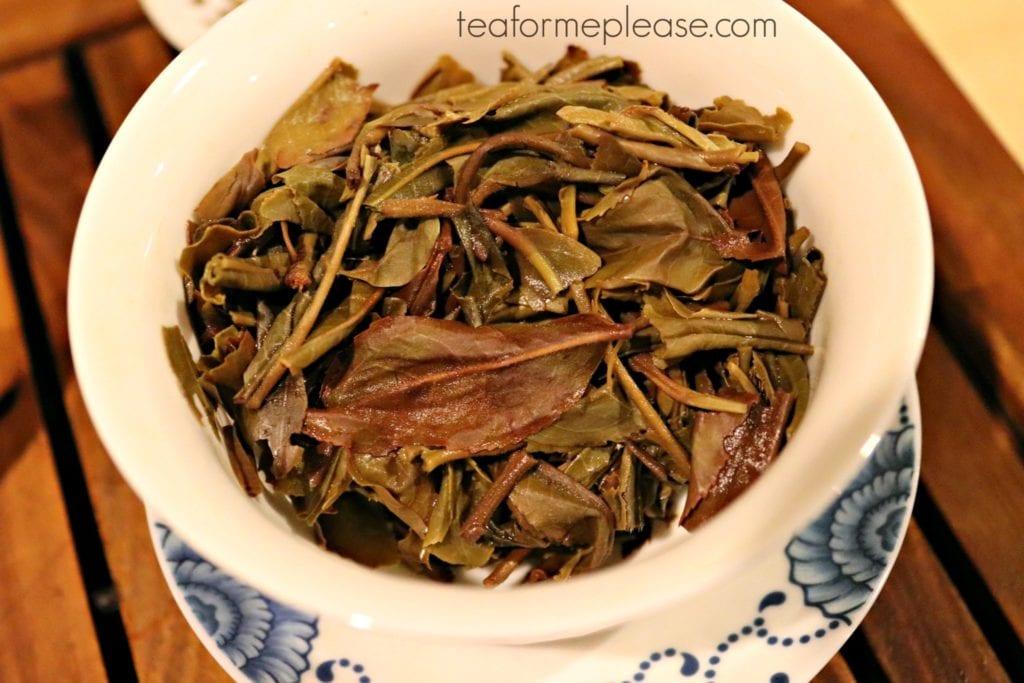 Crimson Lotus Tea Daydream leaves in gaiwan
