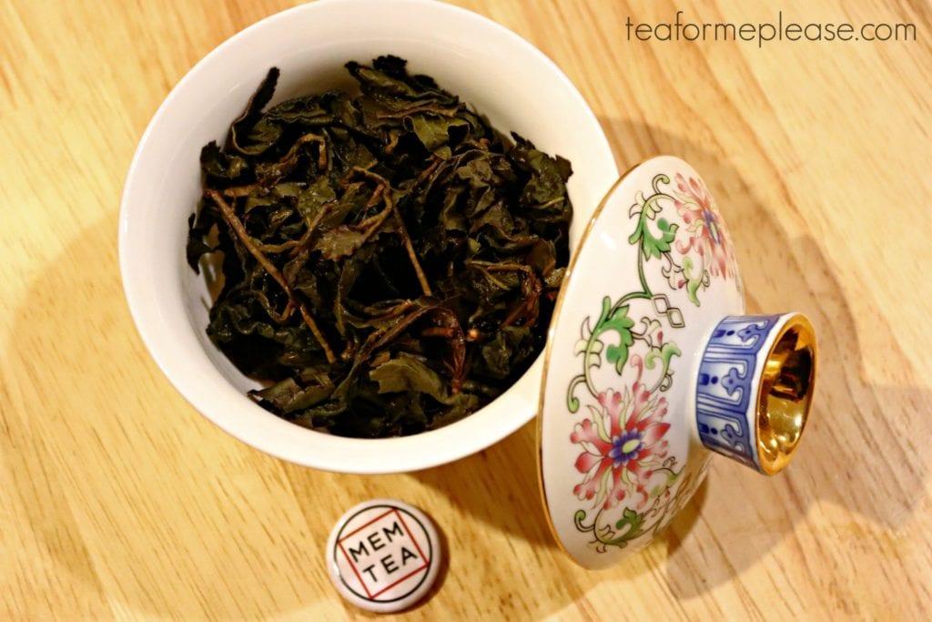 MEM Tea Tung Ting leaves in gaiwan