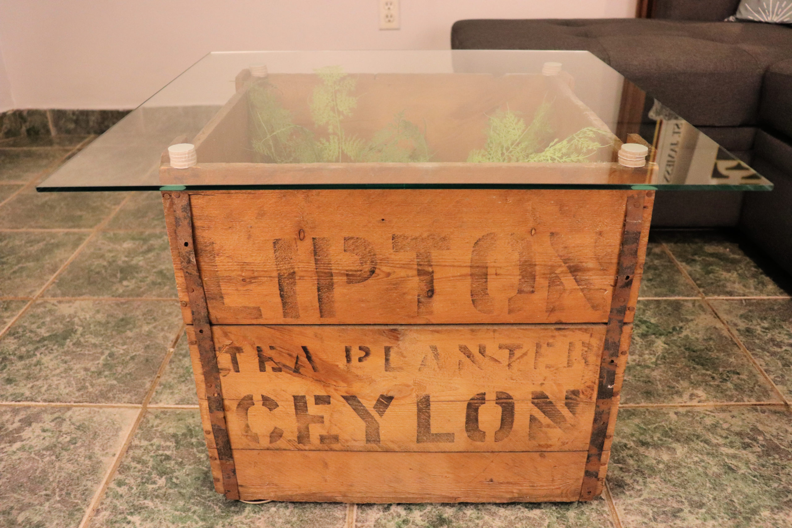 DIY Antique Tea Crate Coffee Table